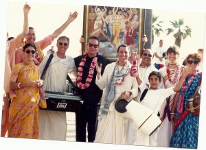 Michael Douglas with TK, Vayasaki, Mrigendra, Vishvambar